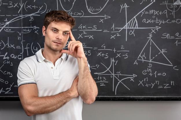 Retrato de professor de pensamento