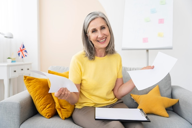 Retrato de professora de inglês