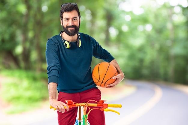 Retrato de saúde ciclismo natural adulto