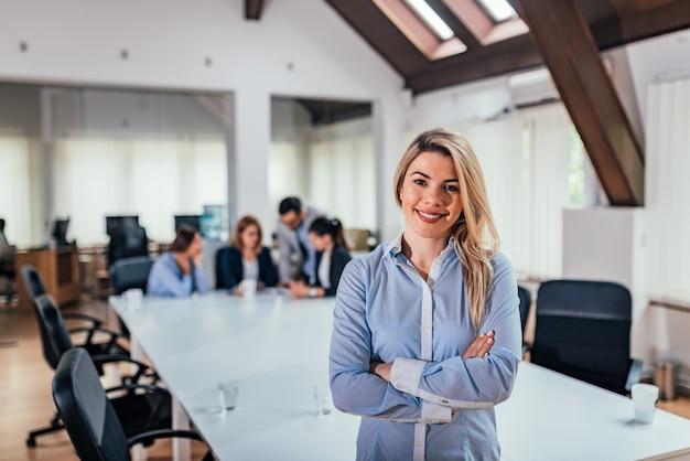 Retrato, de, sucedido, femininas, empreendedor