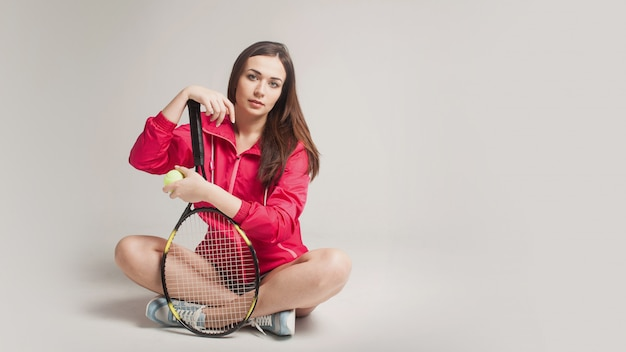 Retrato de tenista jovem
