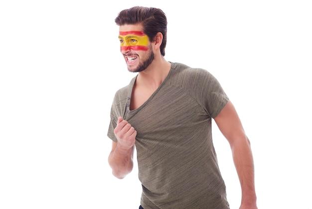 Retrato de torcedor de futebol espanhol