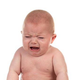 Retrato de um adorável bebê de cinco meses de idade