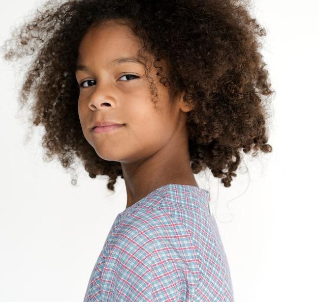 Retrato, de, um, auto-estima, descida africana, menina