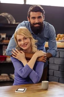 Retrato de um casal adorável