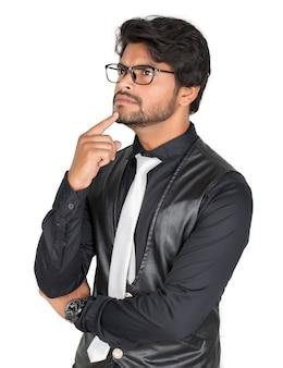 Retrato de um empresário atencioso