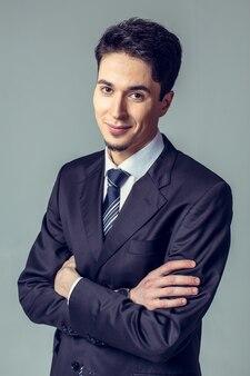 Retrato de um empresário confiante