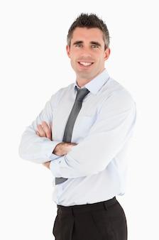 Retrato de um gerente sênior posando