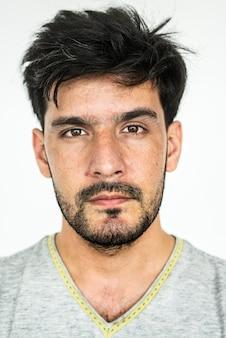 Retrato de um homem afegão