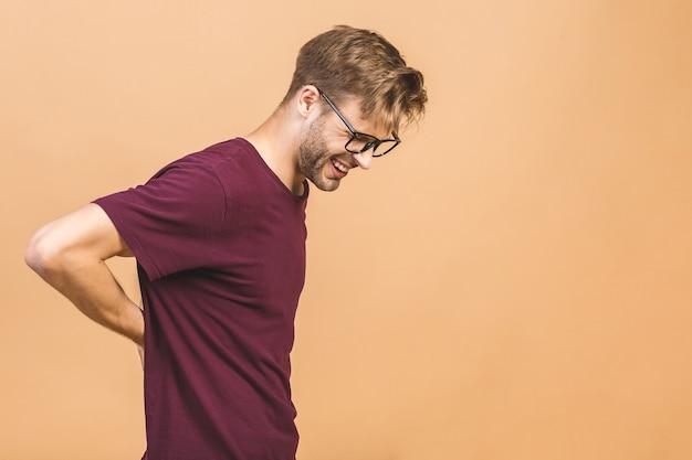 Retrato de um homem bonito de óculos
