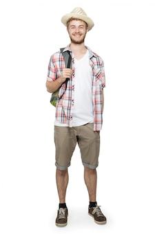 Retrato de um homem de turista