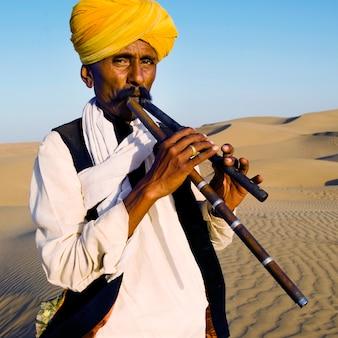 Retrato de um homem indiano