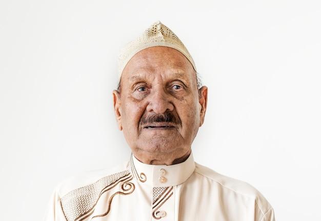 Retrato de um homem muçulmano