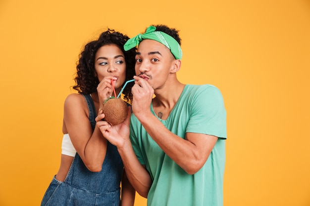 Retrato de um jovem casal africano