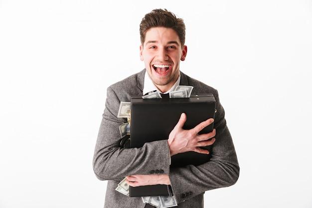 Retrato de um jovem empresário alegre