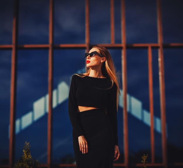 Retrato, de, um, moda, mulher