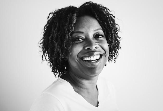 Retrato, de, um, mulher americana africana