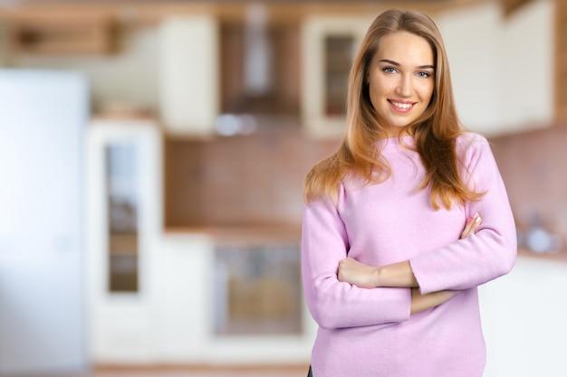 Retrato, de, um, mulher jovem
