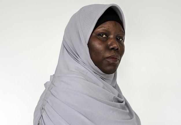 Retrato, de, um, mulher ugandense