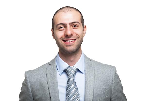 Retrato, de, um, sorrindo, homem negócios