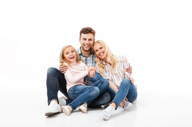 Retrato de uma família alegre