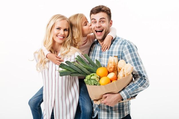 Retrato de uma família feliz