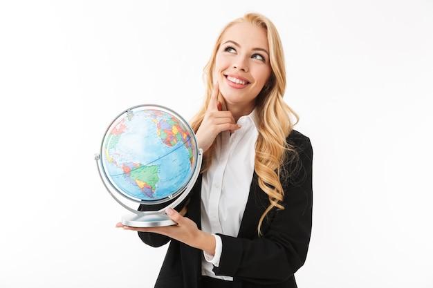 Retrato de uma jovem empresária muito sorridente