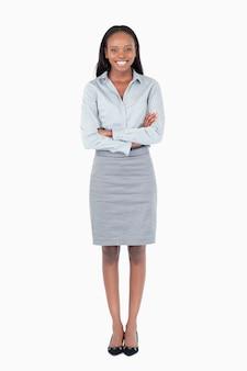Retrato de uma jovem empresária