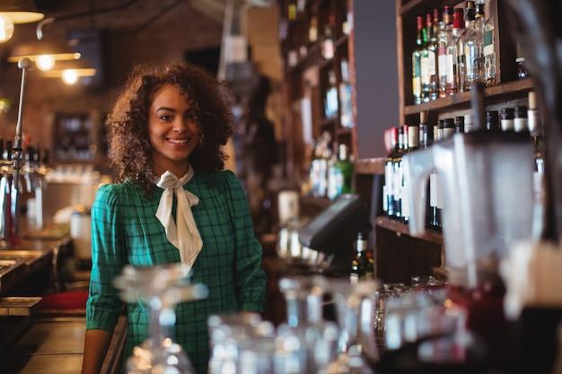 Retrato de uma linda barman