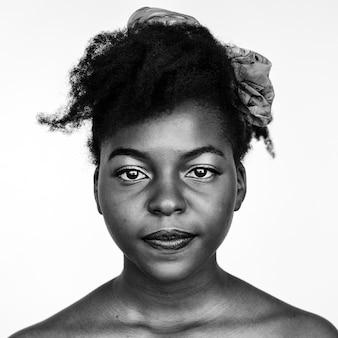 Retrato de uma mulher africana
