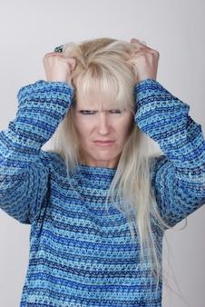 Retrato de uma mulher com um problema