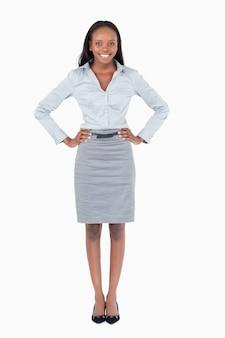 Retrato de uma mulher de negócios feliz