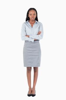 Retrato de uma mulher de negócios séria