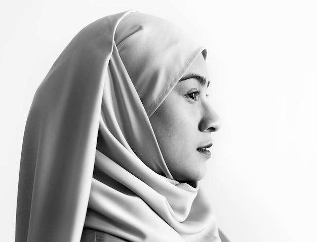 Retrato de uma mulher muçulmana