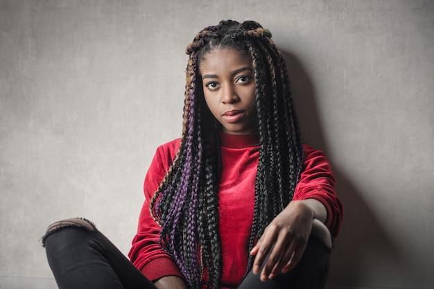 Retrato de uma mulher negra