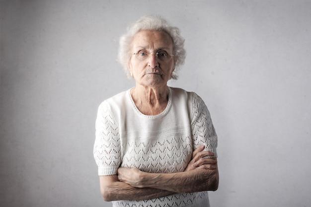 Retrato de uma senhora sênior