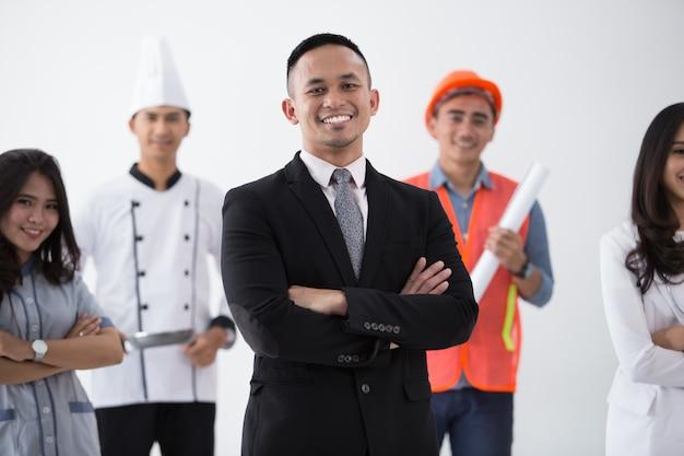 Retrato de várias profissões