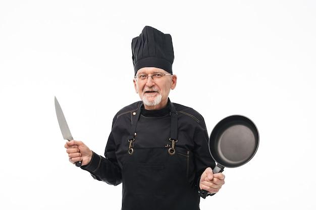 Retrato de velho chef