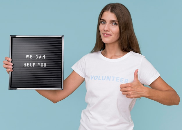 Retrato de voluntário humanitário