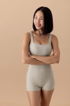Retrato deslumbrante de mulher asiática