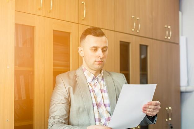 Retrato do estilo de vida do empresário