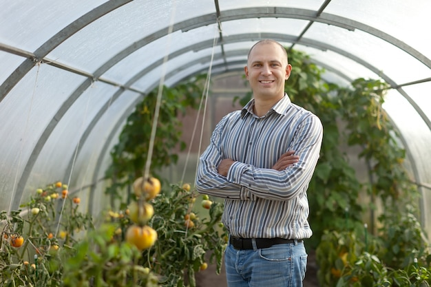 Retrato do fazendeiro Foto gratuita