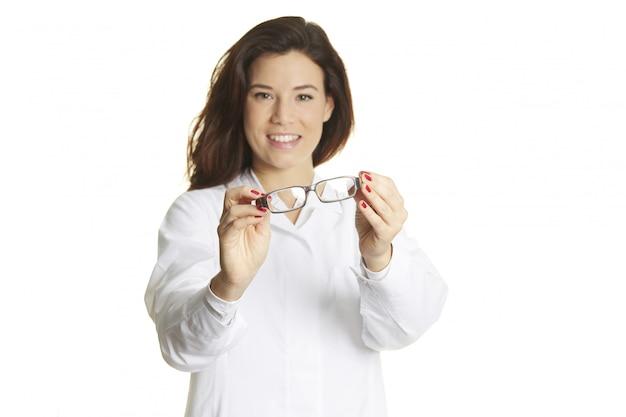 Retrato do médico feminino
