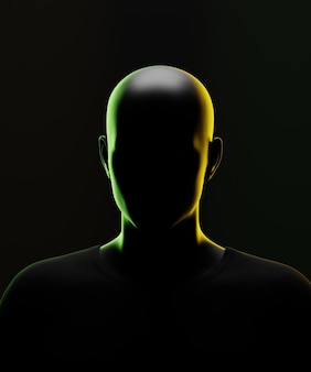 Retrato escuro e desconhecido