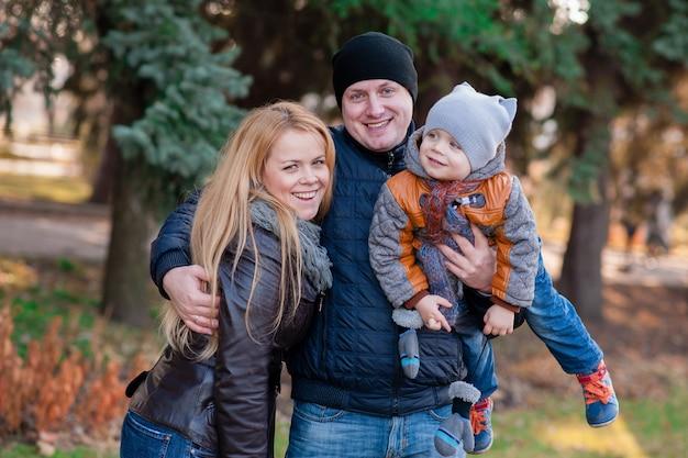Retrato familiar, em, a, parque