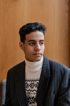 Retrato jovem empresário