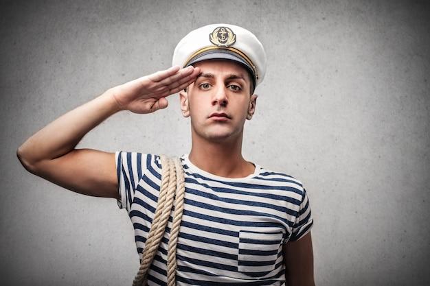 Retrato marinho jovem