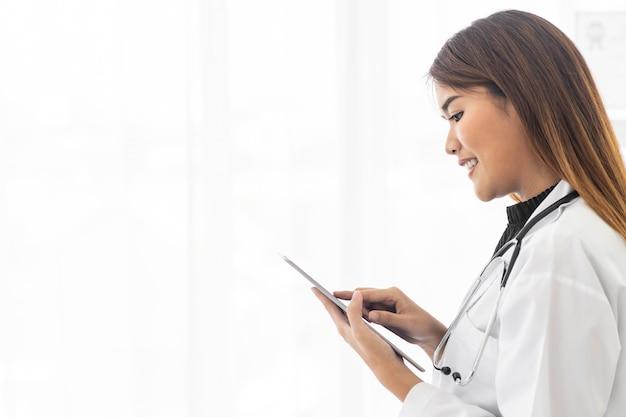 Retrato médico feminino