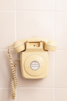 Retro de telefone vintage