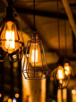 Retro edison lâmpada decoração